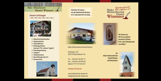 Flyer für Malerbetrieb Wimmer