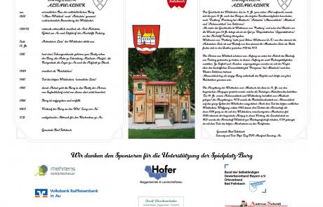 Schild Spiielplatz Bad Feilnbach / Au
