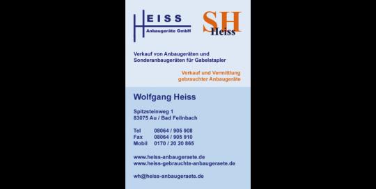 Visitenkarte Heiss Anbaugeräte GmbH