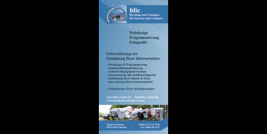 Flyer blic-voraus - Webdesign und Programmierung