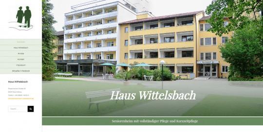 Website Seniorenheim Wittelsbach unter WordPress