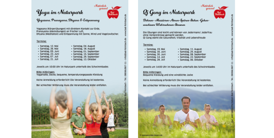 Flyer Yoga und QyGong Bad Feilnbach